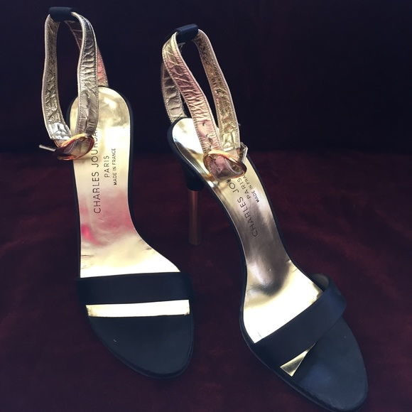 ac5516de5f3 Charles Jourdan Shoes - Vintage Charles Jourdan Strappy Stilettos